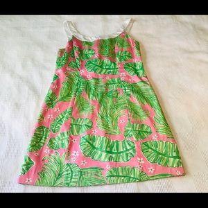 Kaeli Smith Pink Tropical Palm Dress